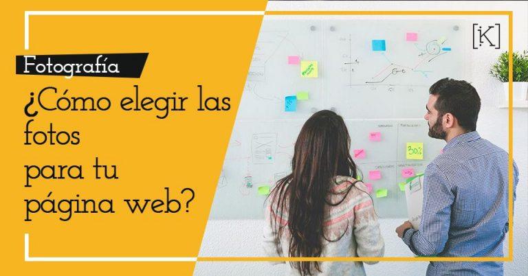 cómo elegir fotos web