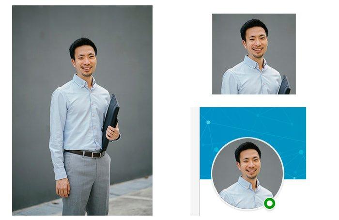 diferencias foto vertical y foto cuadrada Linkedin